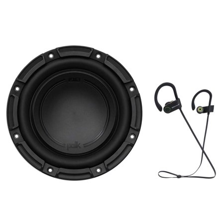 "Polk Audio DB842SVC 8"" 750 Watt Car/Marine Boat Audio Subwoofer Sub+ Earbuds (Polk Audio Subs)"