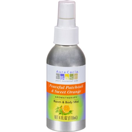 Aura Cacia Peaceful Patchouli/Sweet Orange Aromatherapy Mist 4 oz. Aura Cacia Massage Aromatherapy
