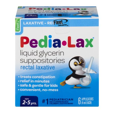 Fleet Pedia-Lax Liquid Glycerin Suppositories Rectal Laxative, 6.0