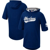 New York Yankees Mitchell & Ness Short Sleeve Pullover Hoodie - Navy