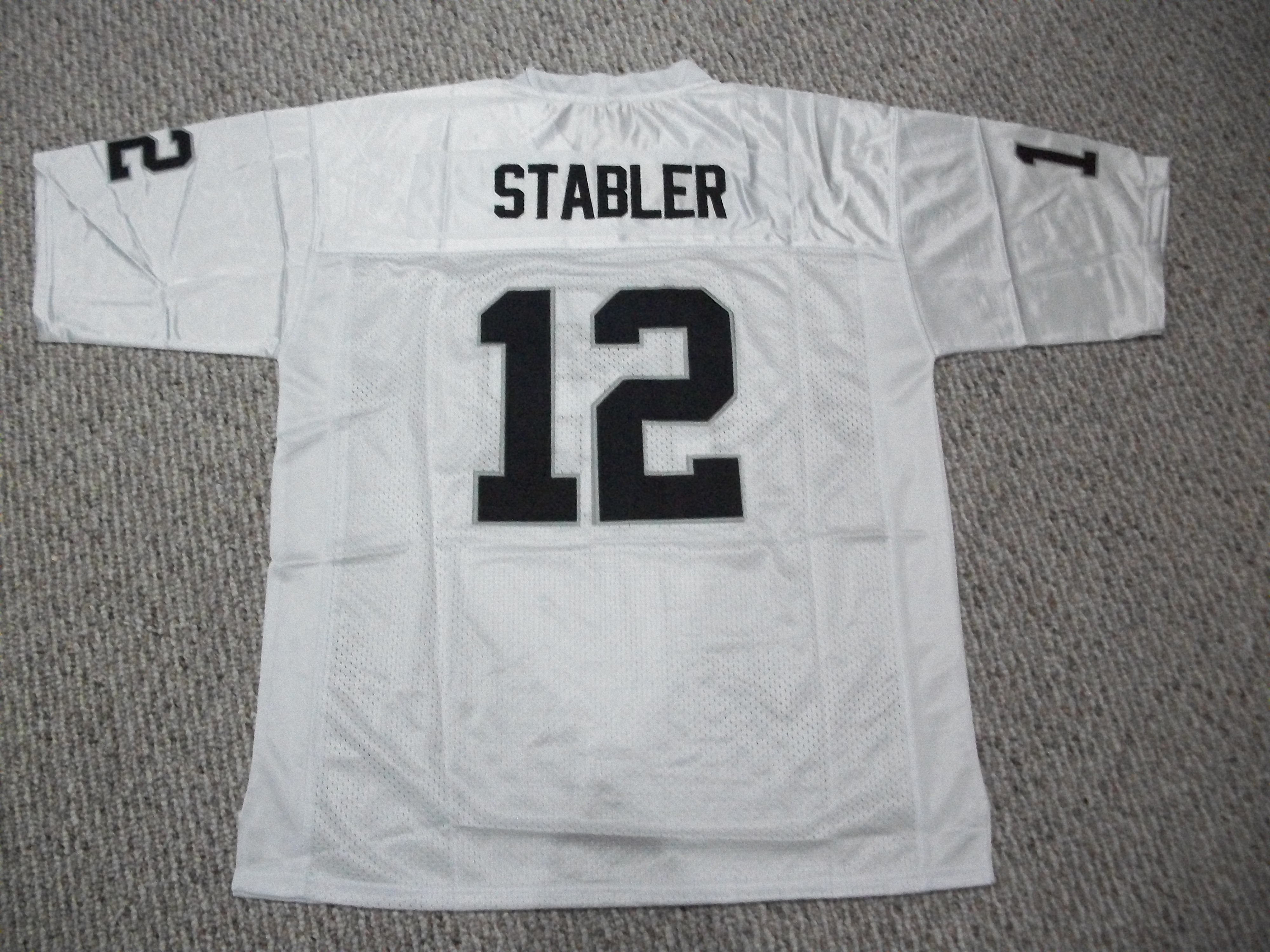 Unsigned Ken Stabler Jersey #12 Oakland/LA Custom Stitched White Football New No Brands/Logos Sizes S-3XL - Walmart.com