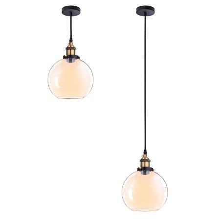 Amber Tiffany Ceiling Light (Yescom Vintage Industrial 7.9
