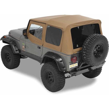 - Bestop 54601-37 Jeep Wrangler with Tinted Windows Supertop Replacement Top, Spice