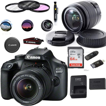 Canon EOS 4000D Digital Camera with EF-S 18-55MM F/3.5-5.6 III Lens + Basic Accessories Bundle