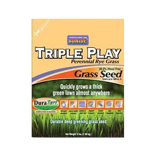 BONIDE PRODUCTS INC Triple Play Perennial Rye Grass Seed, 3-Lbs.