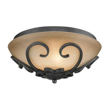 Madera Three Light (Golden Lighting 1821-FM Madera Flush Mount Ceiling Fixture with 3 Lights )