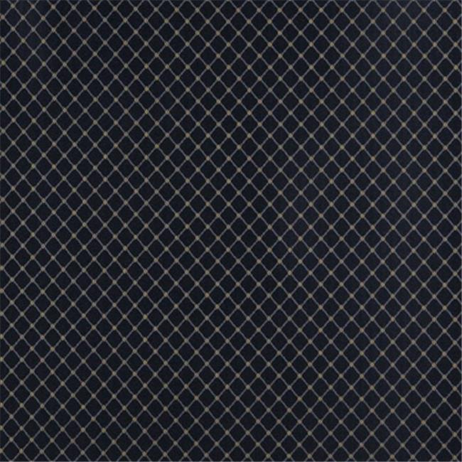 Designer Fabrics D334 54 in. Wide , Navy Blue And Gold Diamond Jacquard Woven Upholstery Fabric