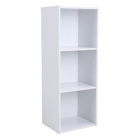 Yosoo 3/4-Shelf Shelving Bookcase,Wooden Bookcase Stand Cube Storage Unit Bookshelf CD Display Shelving Unit free combination Library Display Unit