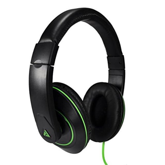 Audio Council Premier Stereo Over-Ear Headphones Black/Green - DJ Style