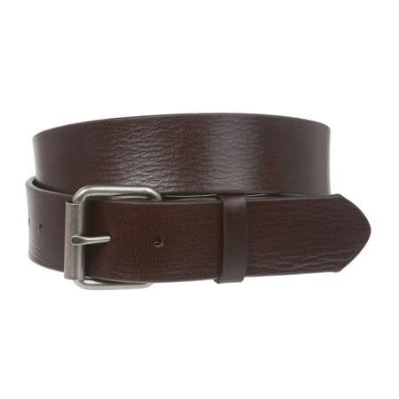 Snap On Plain Oil Tanned Top Grain Cowhide Vintage Retro Leather Belt