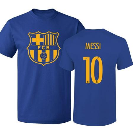 buy online cd965 a8d4d Barcelona Shirt Lionel Messi Soccer Futbol Jersey Shirt #10 T-Shirt