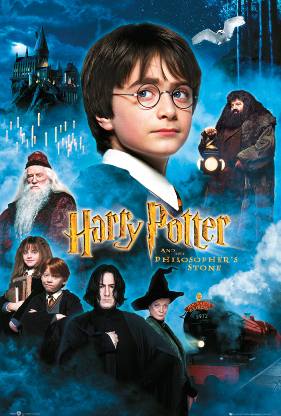 "Harry Potter And The Sorcerer's Stone Movie Poster   Print (Intl. Regular Style The Philosopher's Stone) (Size: 24""... by"