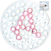 Bella Crystal Golf Ball Marker & Hat Clip - Initials Collection - A (Pink)