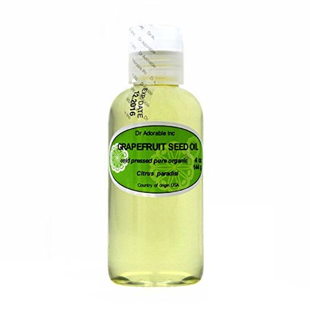 Dr. Adorable - 100% Pure Grapefruit Seed Oil Organic Cold Pressed Natural Hair Skin Care Anti Aging - 4 oz