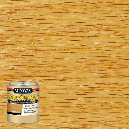Minwax® PolyShades® Honey Pine, Satin, Half