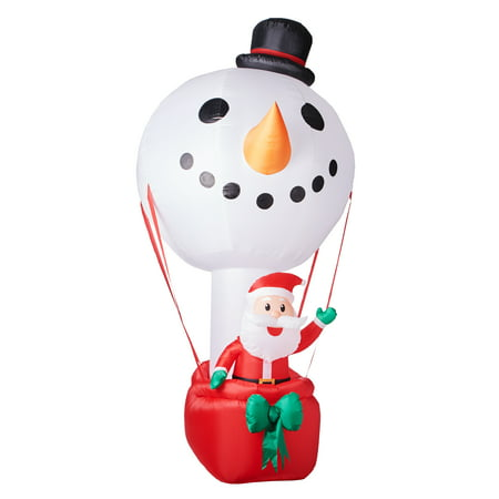 Santa Inflatable (Hot Air Balloon Snowman with Santa Inflatable,)