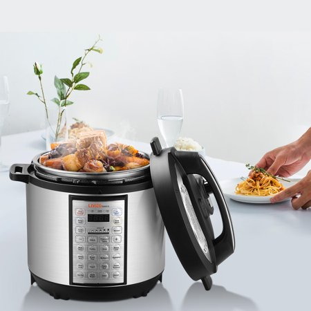 6 Quart Multi-use Pressure Cooker, 18-in-1 Programmable Rice cooker, Stainless inner cntainer - image 2 of 10