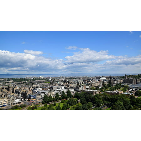 Canvas Print England Panorama City Edinburgh Scotland View Stretched Canvas 10 x - Party City Panama City