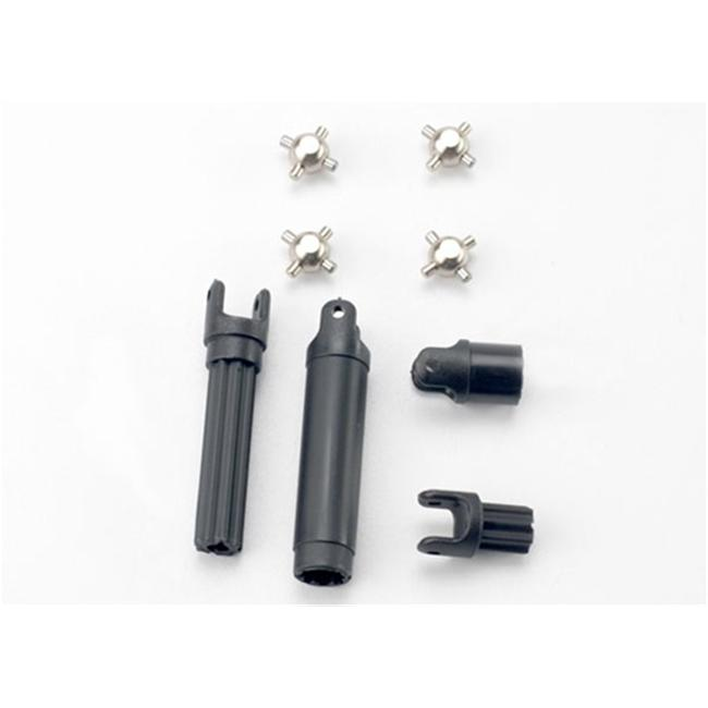 Traxxas TRA7056 Half Shafts Center Front-Center Rear with Metal U-Joints by TRAXXAS