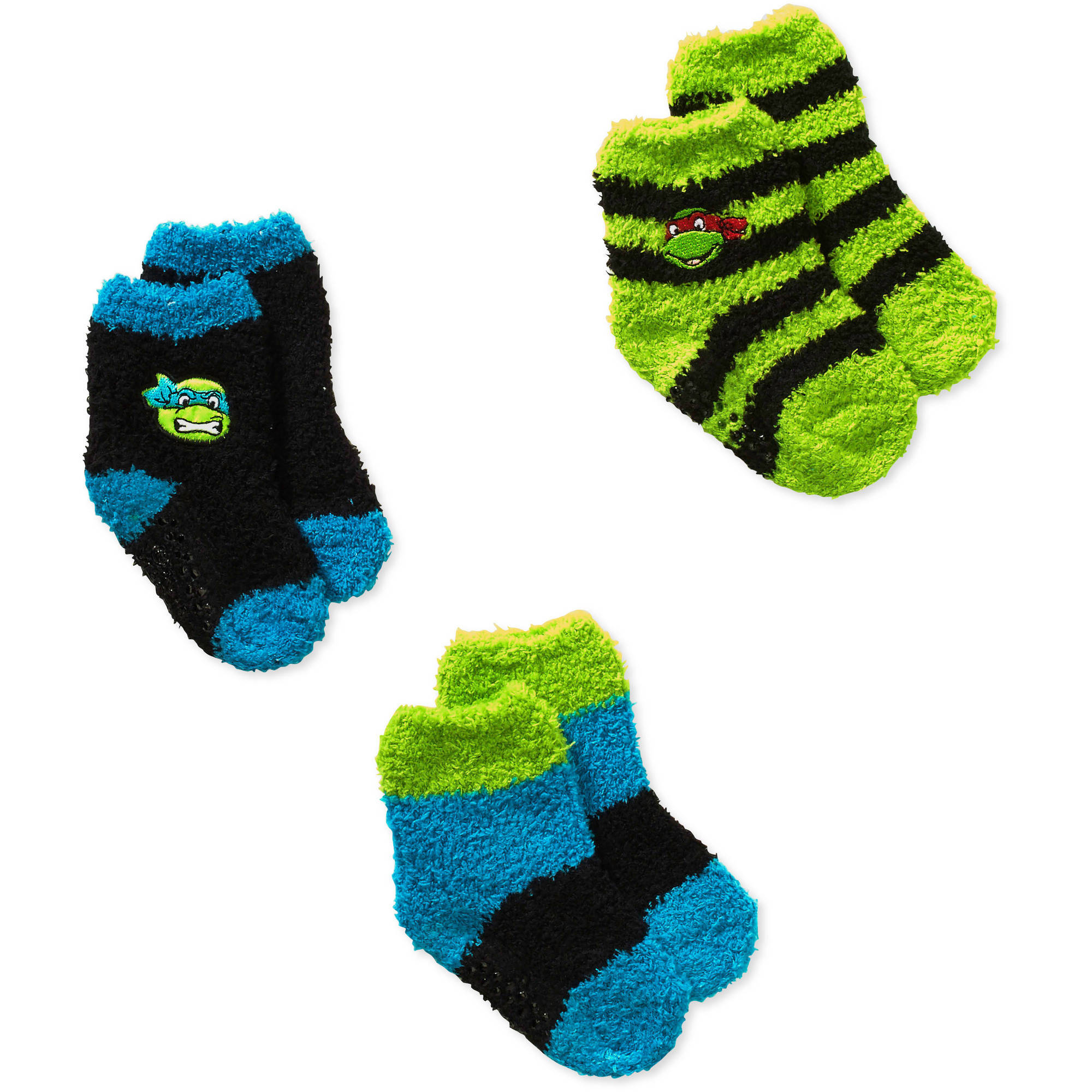 Teenage Mutant Ninja Turtles Baby Toddler Boy Quarter Softee Socks - 3 Pack