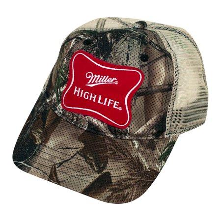 518ddbcc8 Miller - Miller High Life Camo Trucker Hat - Walmart.com
