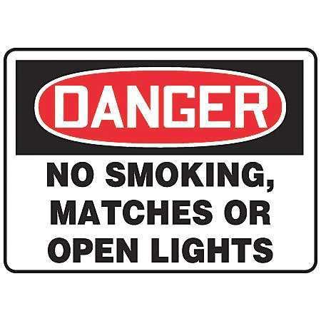 "ACCUFORM SIGNS MSMK135VS Danger No Smoking Sign, 7"" x 10"", English, Text"