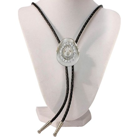 Silver Tone Hat With Austrian Crystals Western Bolo Tie](Silver Top Hats)