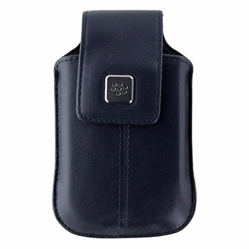 BlackBerry Leather Holster with Clip for BlackBerry 8520 / 8900 - Dark Blue