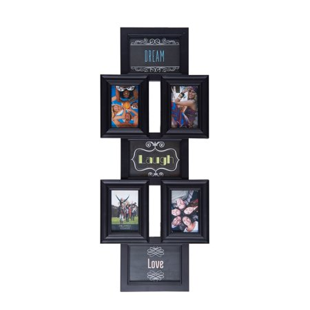 Melannco 35 Inch X 14 Inch 7 Opening Photo Collage Picture Frame