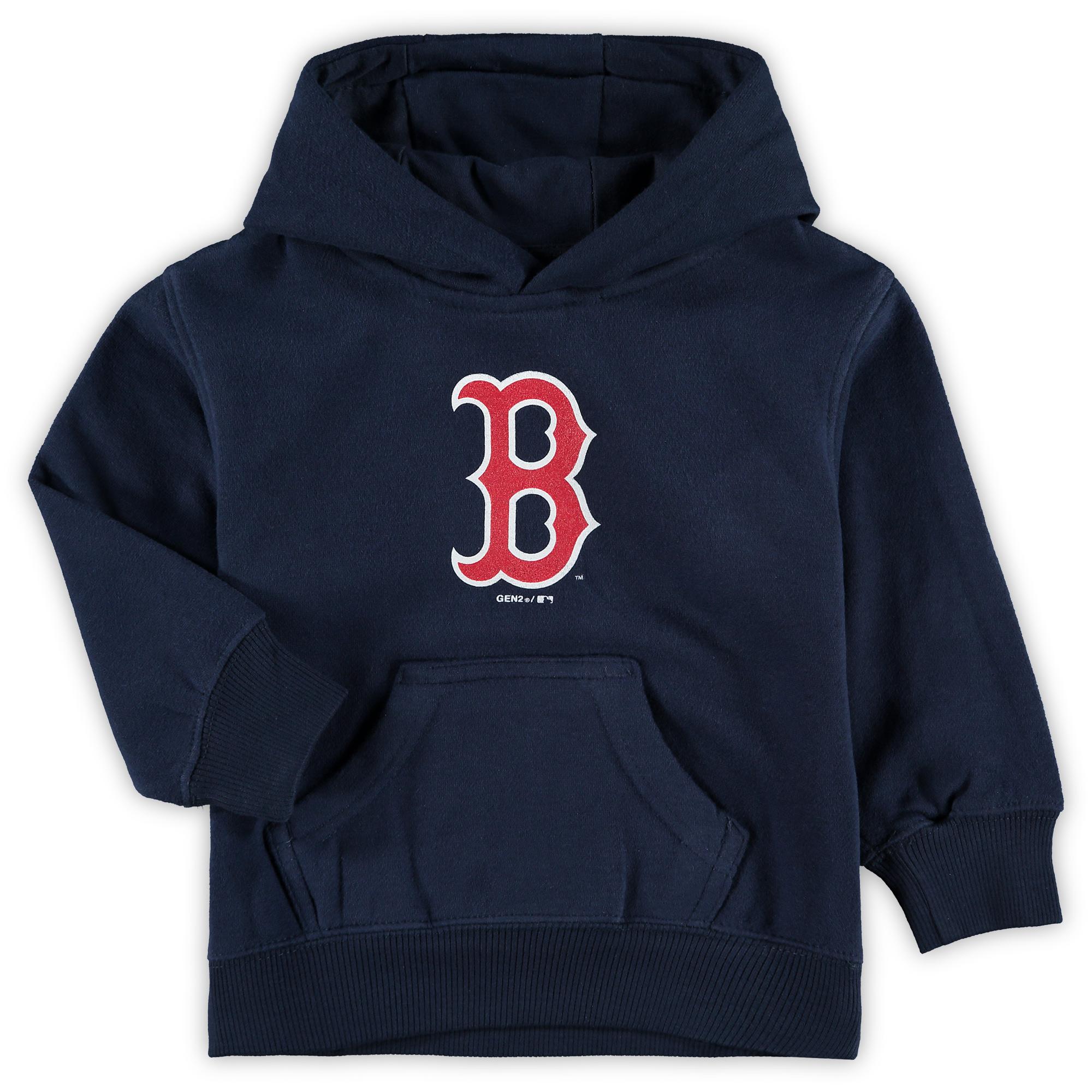 Boston Red Sox Toddler Primary Logo Fleece Pullover Hoodie - Navy