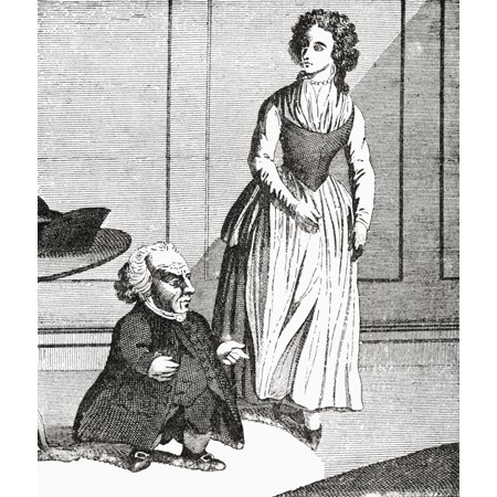 Wybrand Lolkes 1730 - 1800 With His Wife Dutch Dwarf And Jeweller From The Strand Magazine Published 1894 Stretched Canvas - Ken Welsh  Design Pics (14 x -