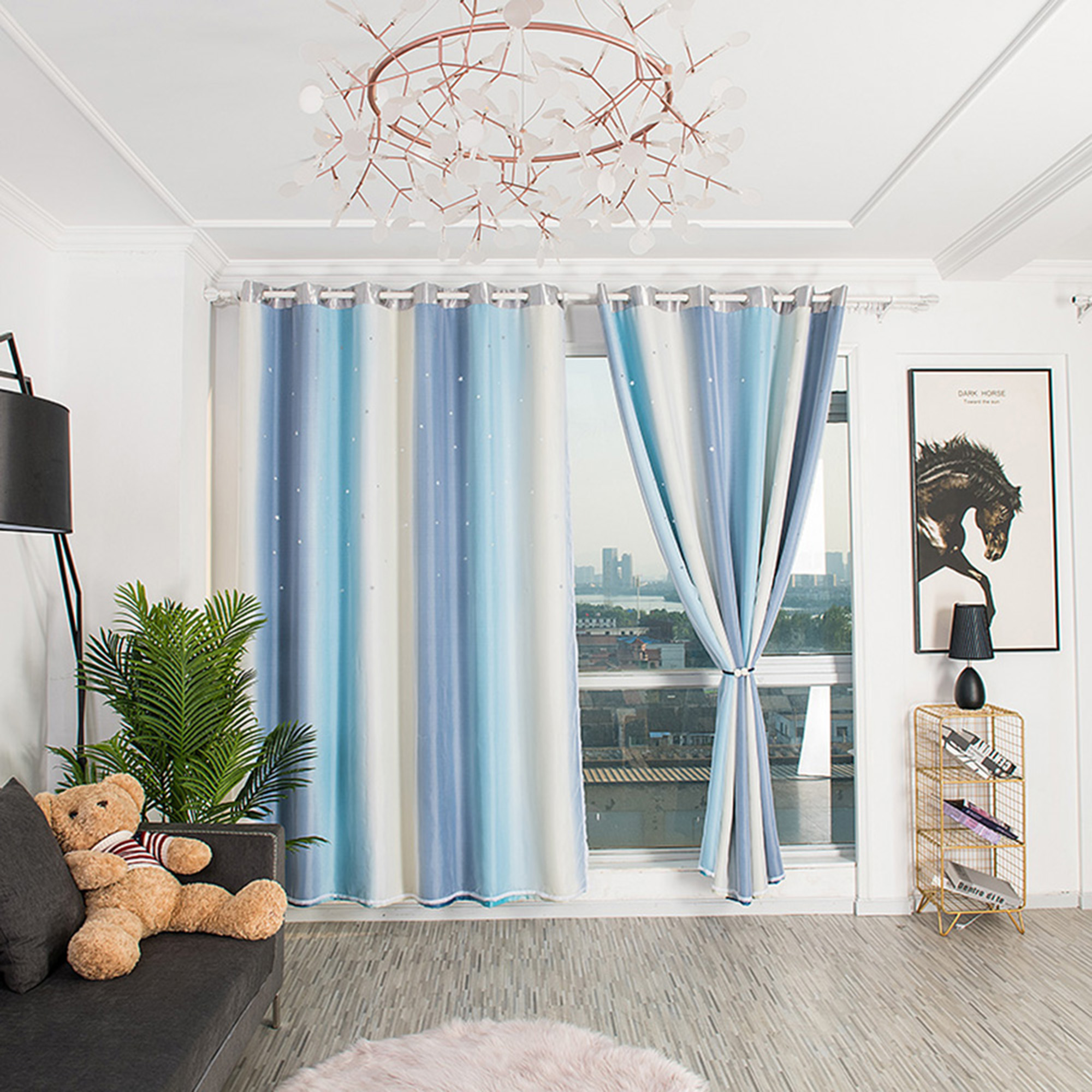 Novelty Net Curtain Perfect For A Children/'s Room Window Decoration