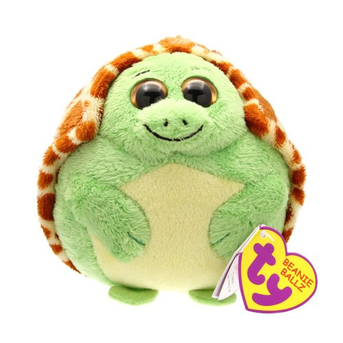 Ty Beanie Ballz Zoom The Turtle Multi-Colored
