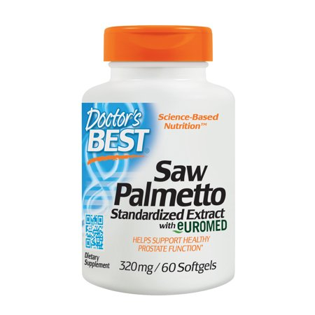 Doctor's Best Saw Palmetto 320mg, Supports Normal Urinary Function, Non-GMO, Gluten Free, Soy Free,