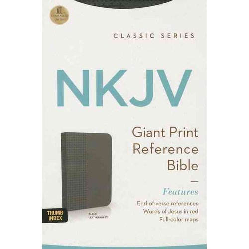 Holy Bible: New King James Version, Black, Leathersoft, Giant Print, Reference Bible