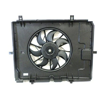 Dual Radiator and Condenser Fan Assembly - Pacific Best Inc For/Fit MB3115117 00-02 Mercedes-Benz E-Class Sedan E320 00-03 Wagon ()
