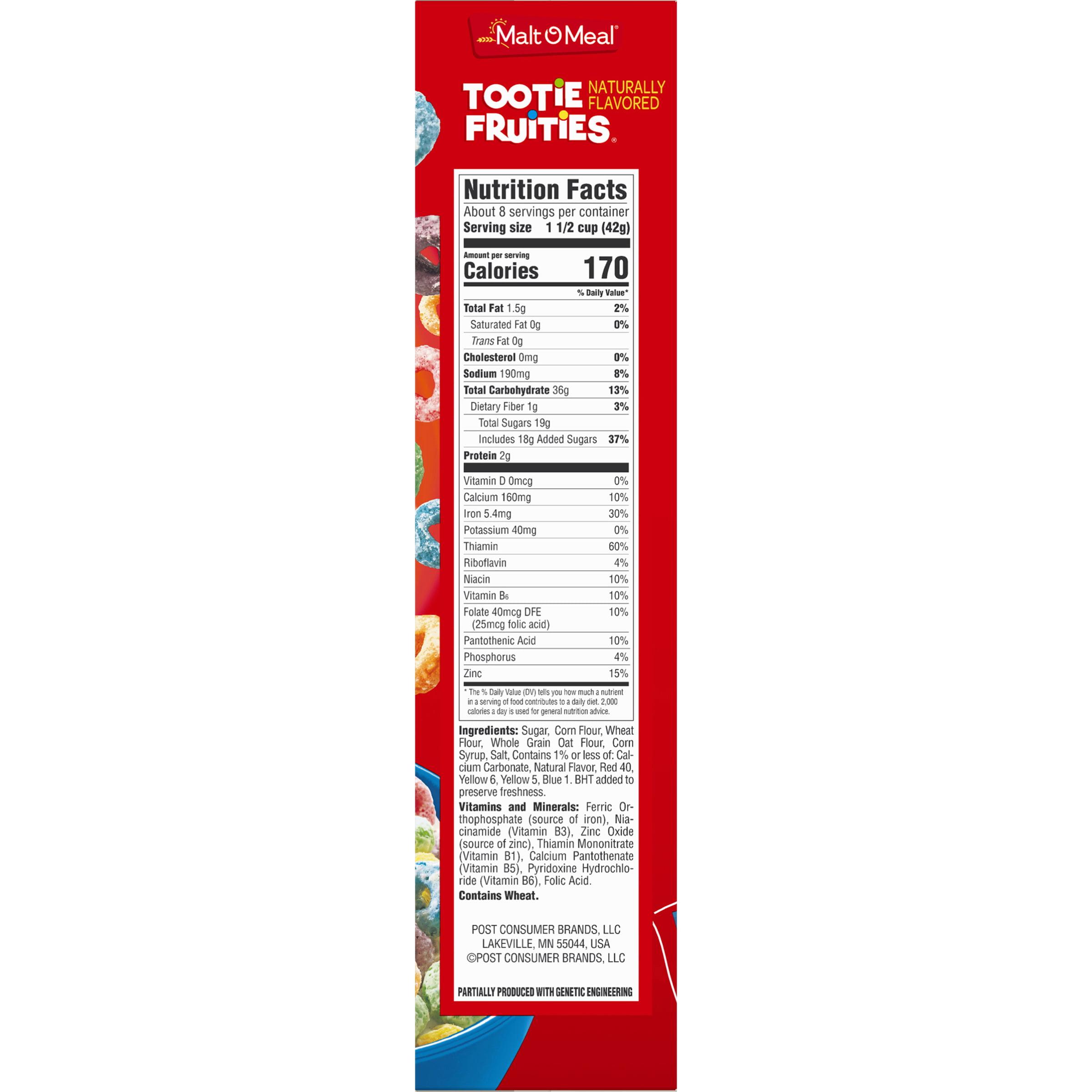 Malt-O-Meal Tootie Fruities Cereal 12.5