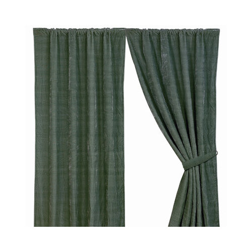 HiEnd Accents Bella Vista Rod Pocket Curtain Single Panel