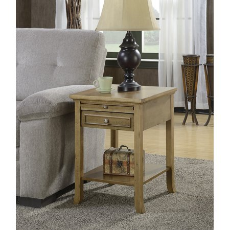 Convenience Concepts American Heritage Logan End Table with Drawer and Slide, Multiple