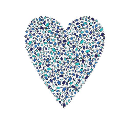Cici Art Factory Lotsa Alphabet Art Heart Penguins Paper Print