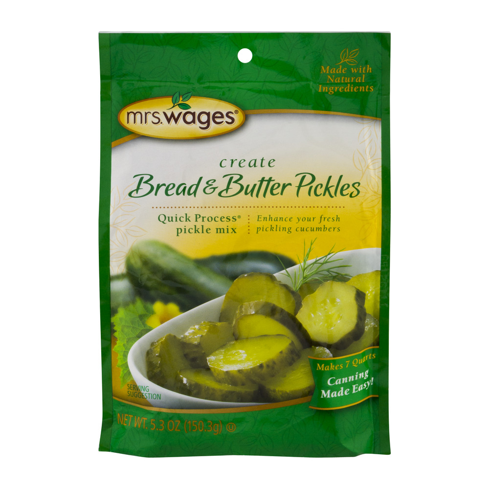Mrs. Wages Bread & Butter Pickles Quick Process Pickle Mix, 5.3 OZ