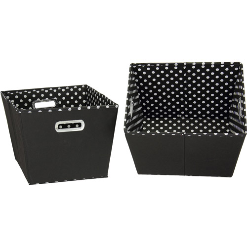 Household Essentials Medium Tapered Bins, 2-Pack