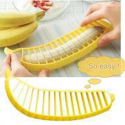 Salad Cutter (Jeobest 1PC Banana Slicer Cutter - Banana Ham Slicer - Banana Cutter Slicer - Kitchen Gadgets Plastic Banana Slicer Cutter Fruit Vegetable Tools Salad Maker Cooking Tools MZ)