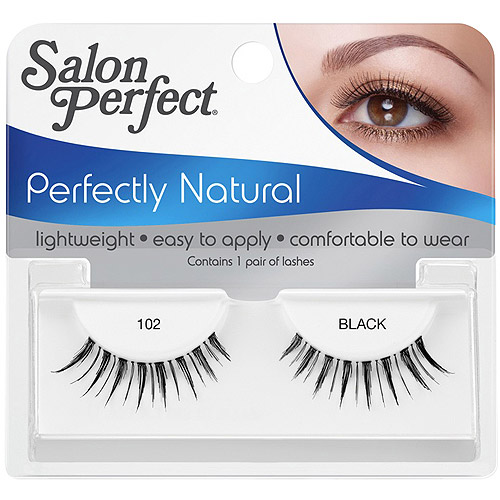Salon Perfect Perfectly Natural Eyelashes, 102 Black, 1 pr
