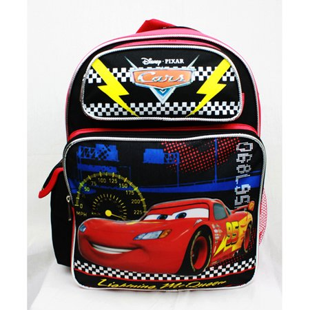 Medium Backpack - Disney Cars - Lightning McQueen Black New A08494 (Lightning Mcqueen Sleeping Bag)