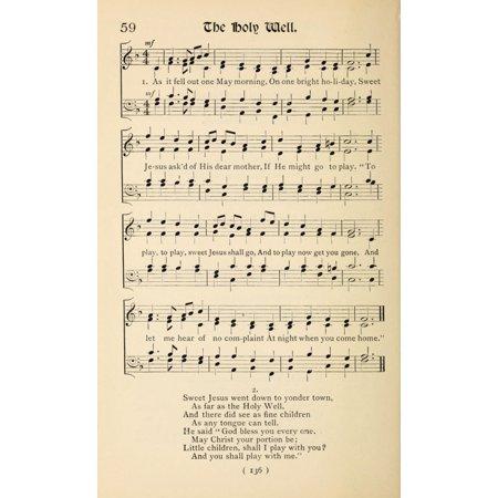Old Christmas Carols.Holy Well 1 Christmas Carols New Old 1850 Poster Print