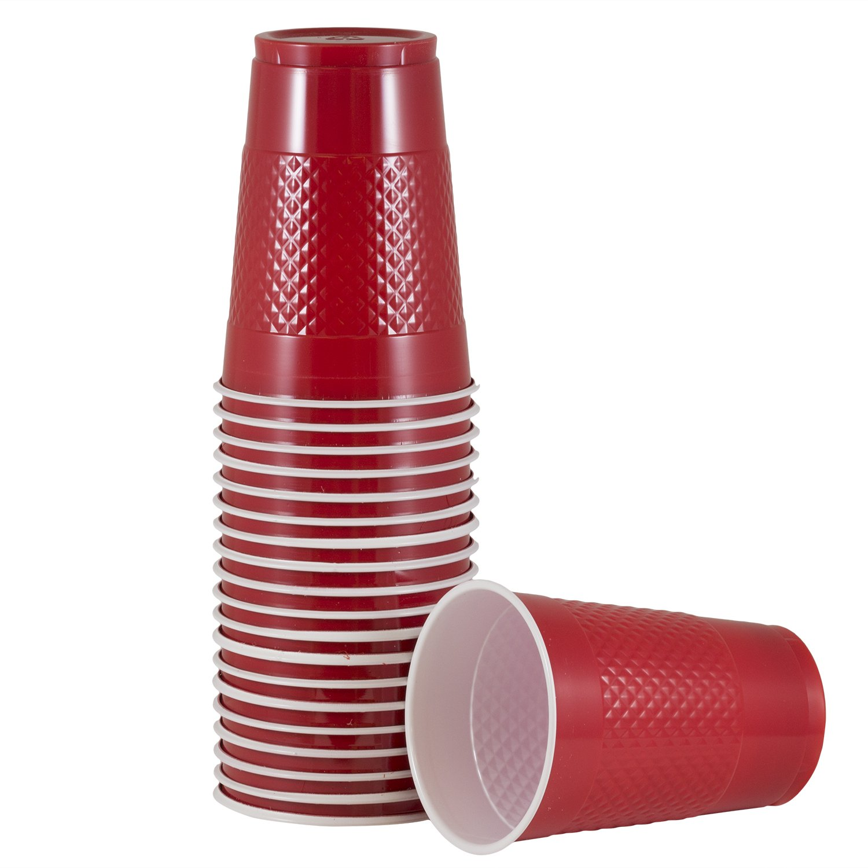JAM PAPER Plastic Cups - 16 oz - Red - 20/Pack | Walmart ...