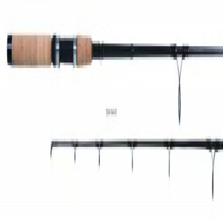 Contour C612S70 7-Foot In-Shore Spinning Rod with 6 to 12-Pound Line Weight, Medium Action, Black