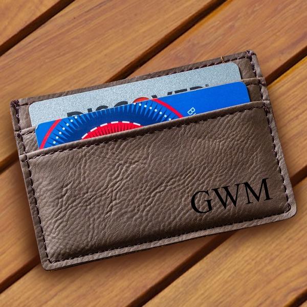 Personalized Men's Money Clip Wallet