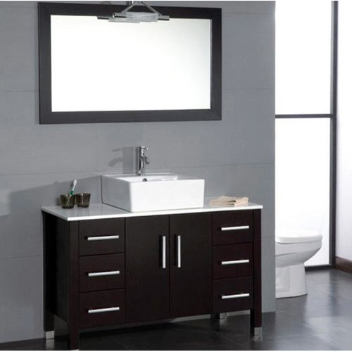 Cambridge Plumbing Magnolia 47'' Single Bathroom Vanity Set with Mirror